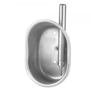 Csészés önitató malacoknak, inox, méret: 15 x 21 x 9 cm